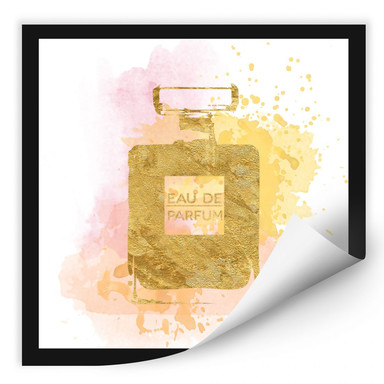 Wallprint Eau de Parfum Aquarell - Gold