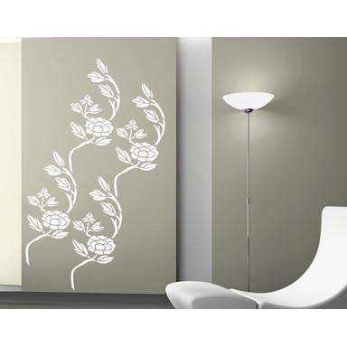 Wohnansicht - Wandtattoo Blütenast Tapete