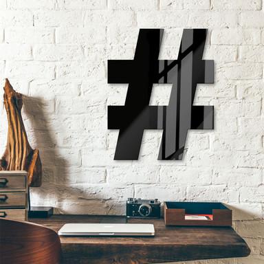 Acrylbuchstaben Hashtag