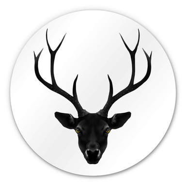 Alu-Dibond Ireland - The Black Deer - Rund