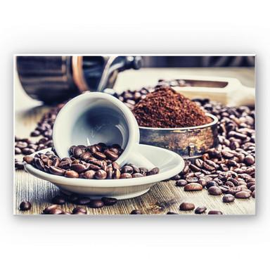 Hartschaumbild Kaffeeträume