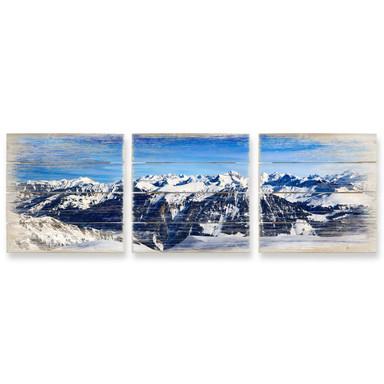 Holzbild Set Alpenpanorama (3-teilig)