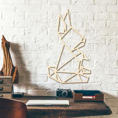 Holzkunst Pappel - Origami Hase