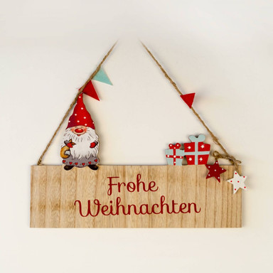 Holzschild - Weihnachten
