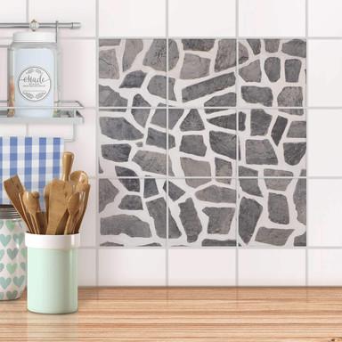 Klebefliesen - Steinmosaik