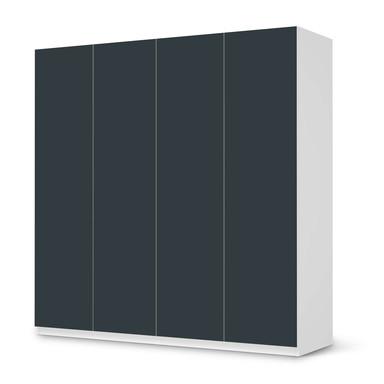 Klebefolie IKEA Pax Schrank 201cm Höhe - 4 Türen - Blaugrau Dark- Bild 1