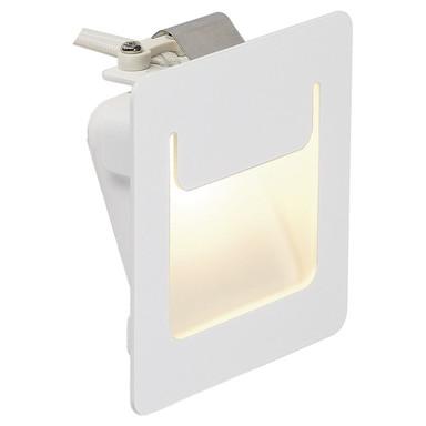 LED Wandeinbauleuchte Downunder Pur, weiss, 3000K, 80x80 mm, eckig