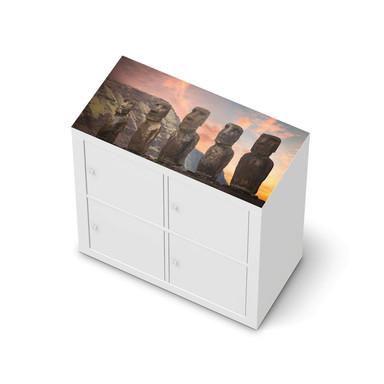 Möbelfolie IKEA Expedit Regal oben - Easter Island