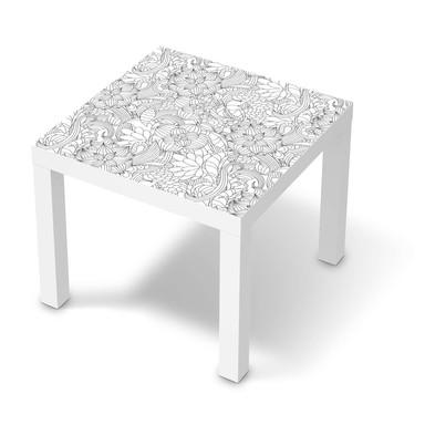 Möbelfolie IKEA Lack Tisch 55x55cm - Flower Lines 2