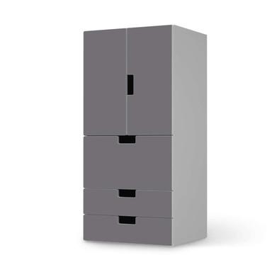 Möbelfolie IKEA Stuva / Malad - 3 Schubladen und 2 kleine Türen - Grau Light