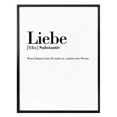 Poster Grammatik - Liebe