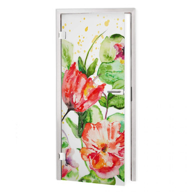 Sichtschutzfolie Toetzke - Gartenblumen