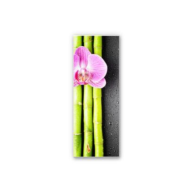 Wandbild Orchid and Bamboo - Panorama (vertikal)