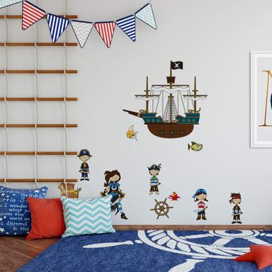 Wandsticker Piratenwelt 2
