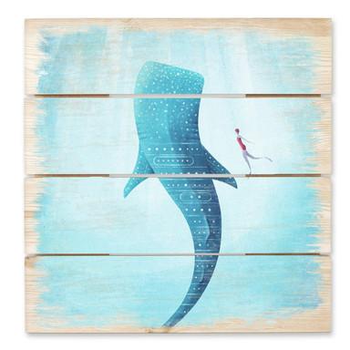 Holzbild Rivers - Der Walhai