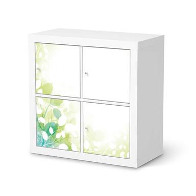 Klebefolie IKEA Kallax Regal 4 Türen - Flower Light