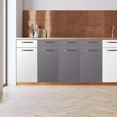 Küchenfolie - Unterschrank 120cm Breite - Grau Light