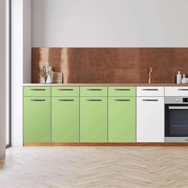 Küchenfolie - Unterschrank 160cm Breite - Hellgrün Light