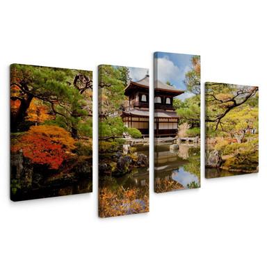 Leinwandbild Japanischer Tempel 2 (4-teilig)