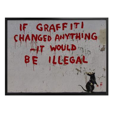 Poster Banksy - If graffiti changed anything