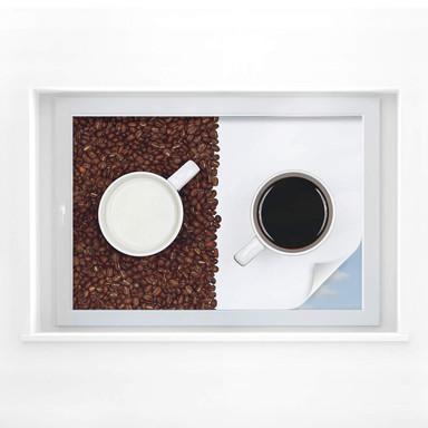 Sichtschutzfolie Lavsen - White Espresso