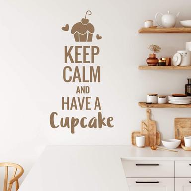 Wandtattoo - Keep calm and have a cupcake