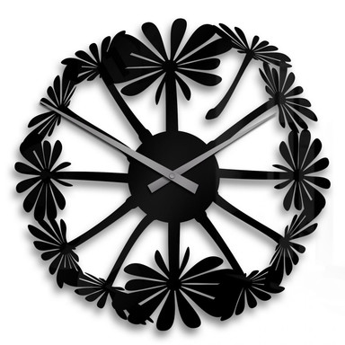 Acrylglasbild Pusteblume Uhr