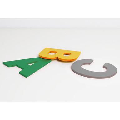 Dekobuchstaben 10cm Buchstabenhöhe bunt - Bild 1