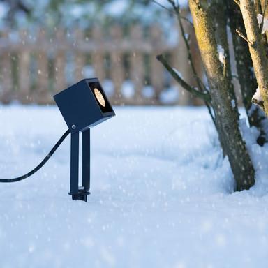 famlights | LED Erdspiessleuchte Vincent aus Aluminium in Anthrazit 470 Lumen