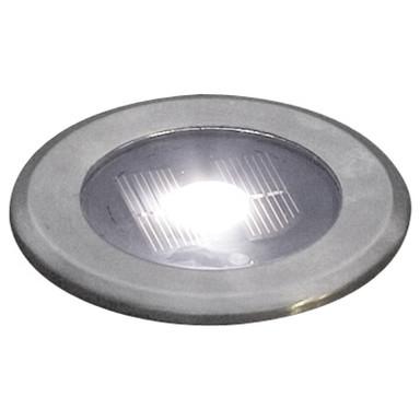 Funktioneller Solar LED Bodenspot aus rostfreiem Edelstahl und Glas in klar, IP44