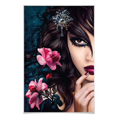 Giant Art® XXL-Poster Midnight Rose - 115x175cm