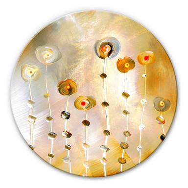 Glasbild rund Niksic - Golden Eye