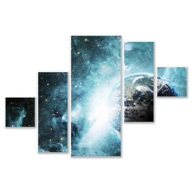 Hartschaumbild In einer fernen Galaxie (5-teilig)