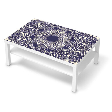 Klebefolie IKEA Lack Tisch 118x78cm - Blue Mandala- Bild 1