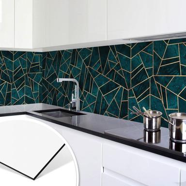 Küchenrückwand Fredriksson - Blau-grüner Edelstein