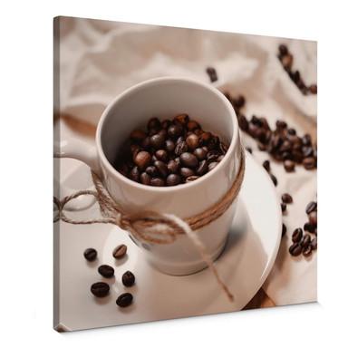 Leinwandbild Kaffee Zauber - Quadratisch