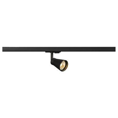 Leuchtenspot Avo für 1-Phasen-Stromschiene, schwenk- und drehbar, GU10. schwarz