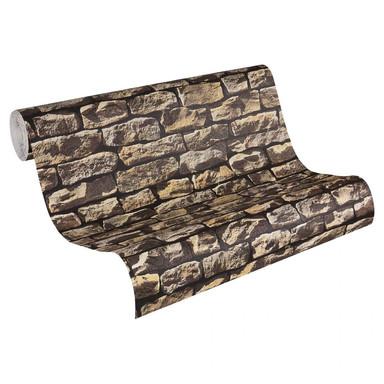 Mustertapeten A.S. Création Tapete Wood'n Stone Beige, Braun, Schwarz