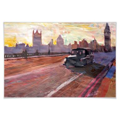 Poster Bleichner - London in der Abenddämmerung