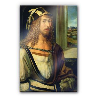 Acrylglasbild Dürer - Selbstbildnis mit Landschaft