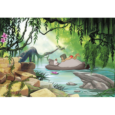 Fototapete Jungle book swimming with Baloo