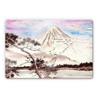 Glasbild Toetzke - Asian Landscape