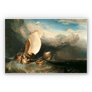Hartschaumbild Turner - Fischerboote