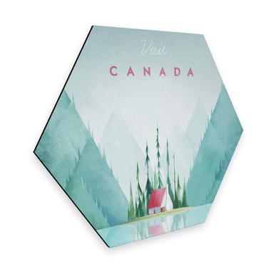 Hexagon - Alu-Dibond Rivers - Kanada