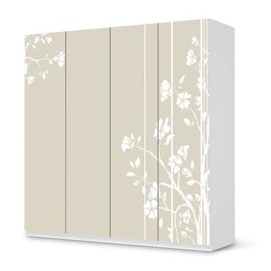 Klebefolie IKEA Pax Schrank 201cm Höhe - 4 Türen - Florals Plain 3- Bild 1
