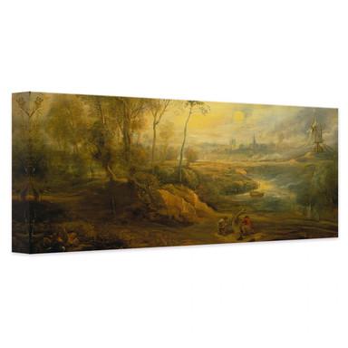 Leinwandbild Rubens - Landschaft mit Vogelfänger