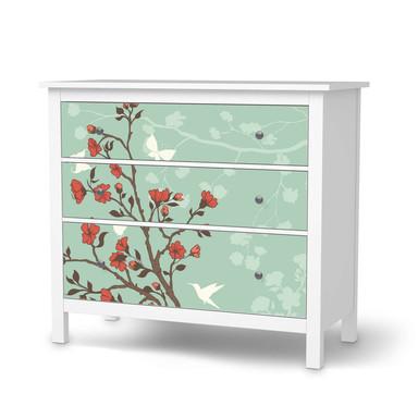 Möbelfolie IKEA Hemnes Kommode 3 Schubladen - Blütenzauber