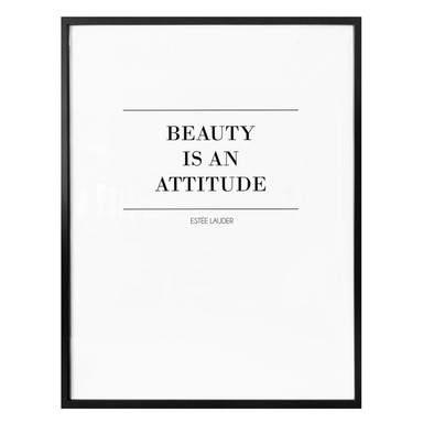 Poster Beauty is an attitude