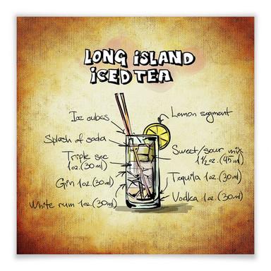 Poster Long Island Iced Tea - Rezept