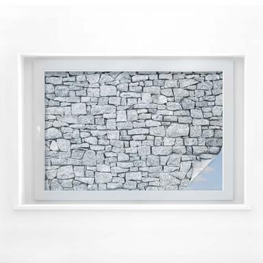 Sichtschutzfolie Granitmauer